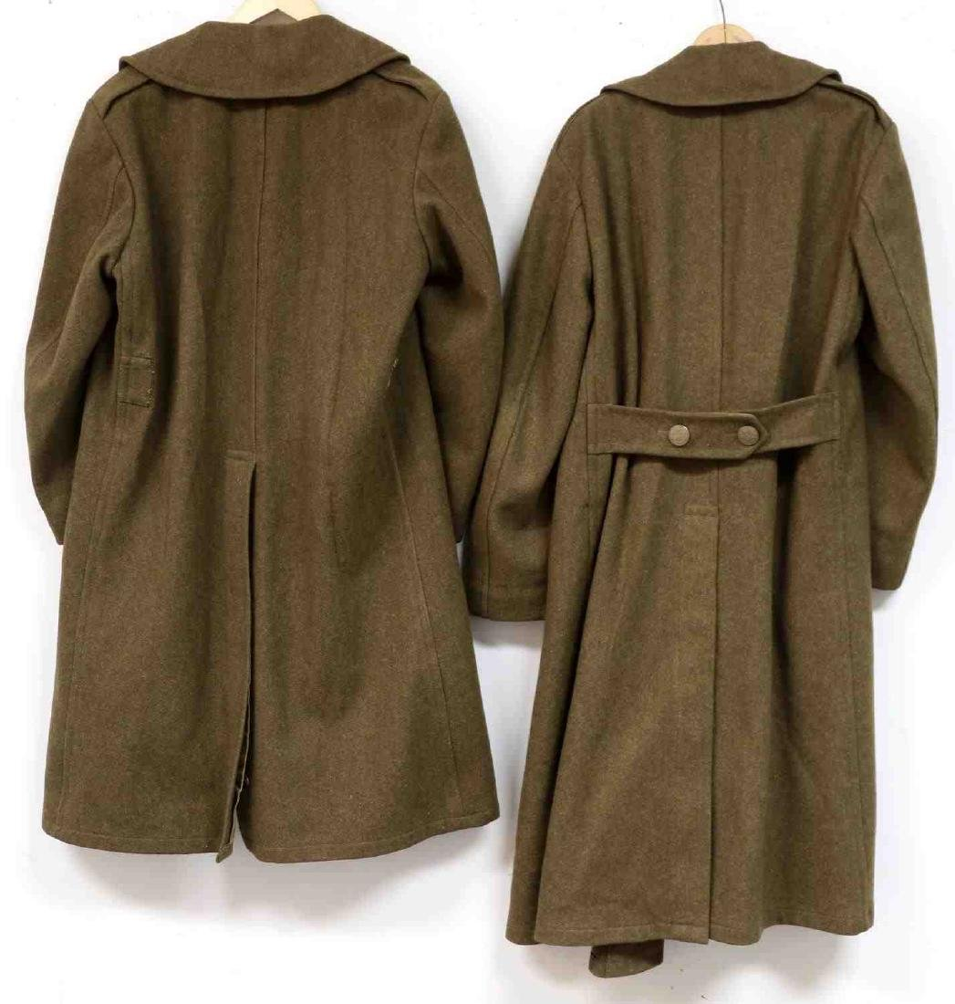 TWO MILITARY UNIFORM US ARMY WWII OVERCOATS - 7