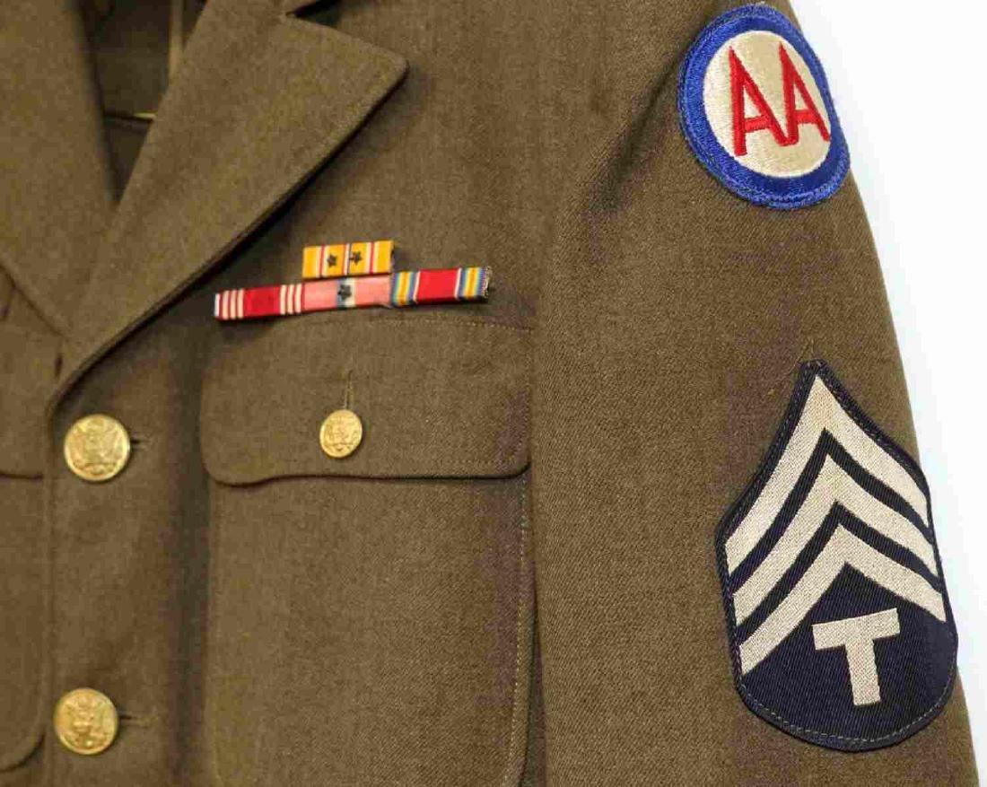 TWO US ARMY UNIFORM JACKETS DUI 4TH ARMY ANTI-AIR - 2