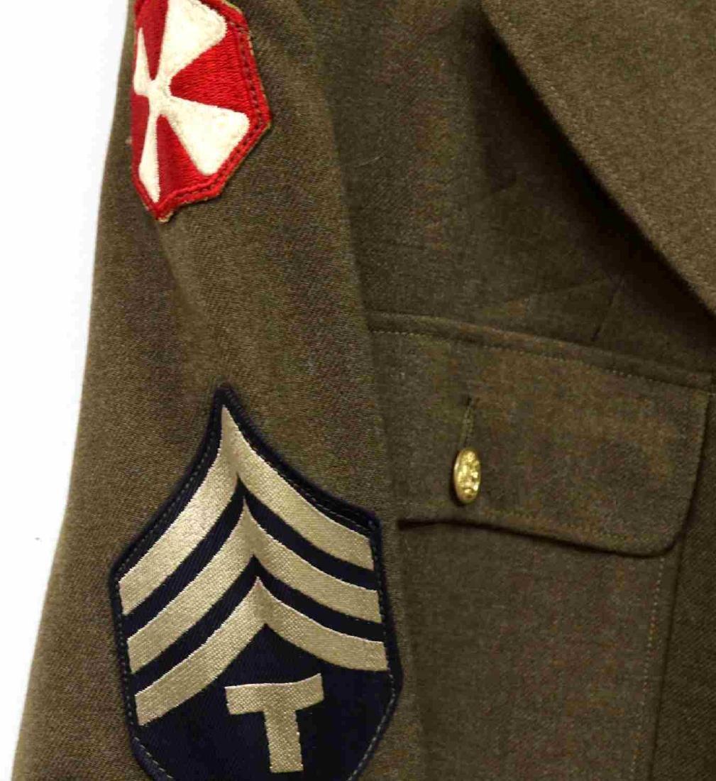 TWO US ARMY UNIFORM JACKETS DUI 4TH ARMY ANTI-AIR - 3