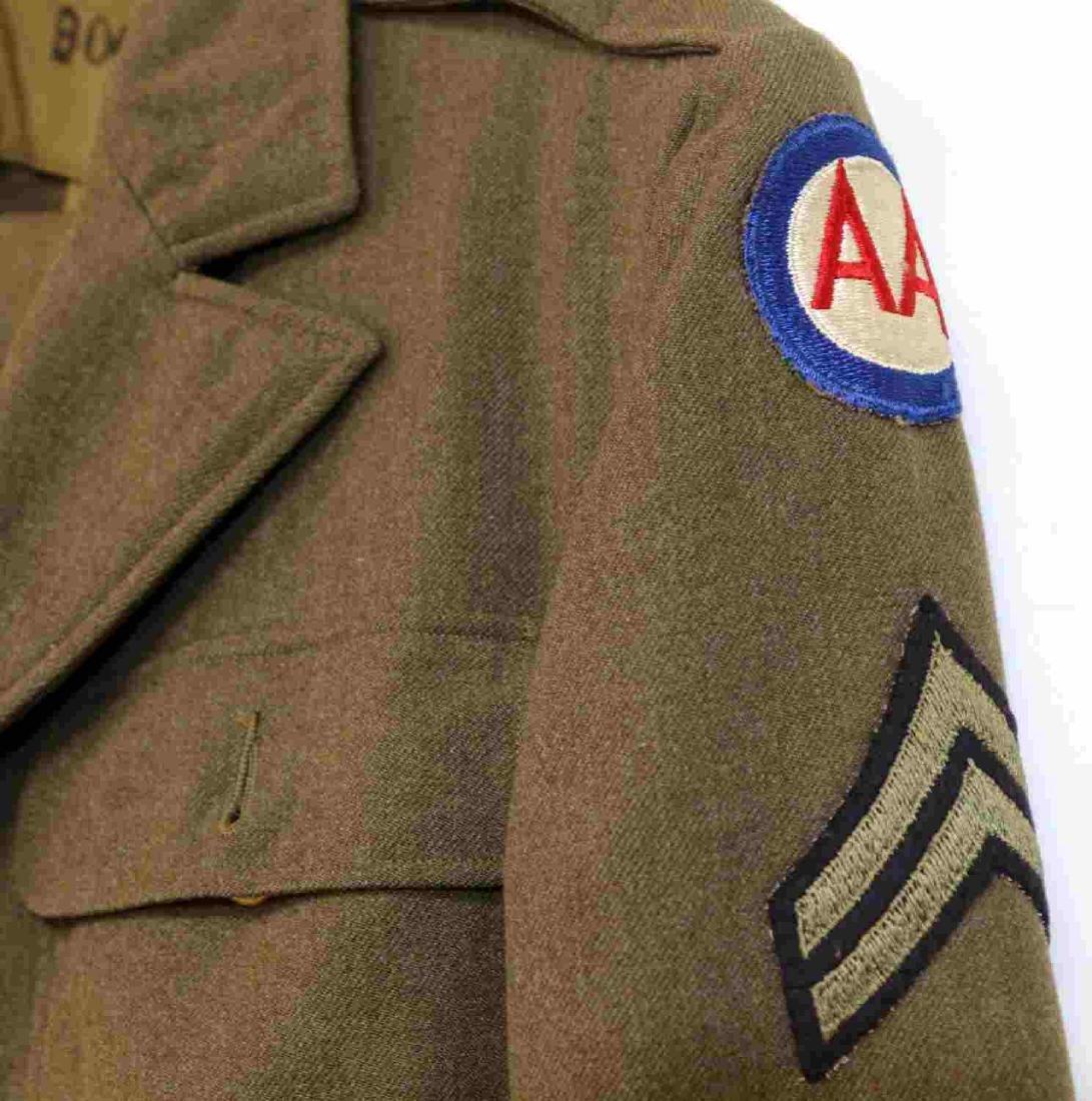 TWO US ARMY UNIFORM JACKETS DUI 4TH ARMY ANTI-AIR - 7