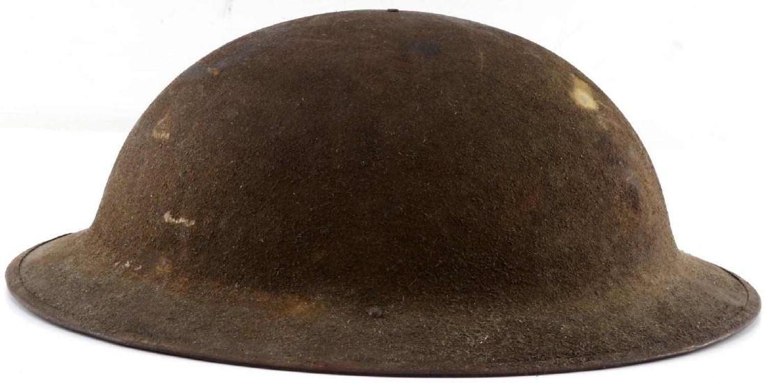 WWI AMERICAN P 17 BRODIE DOUGH BOY HELMET - 2