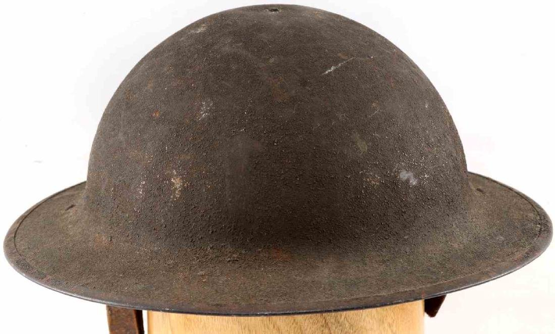 WWI AMERICAN P 17 BRODIE AEF DOUGH BOY HELMET - 4