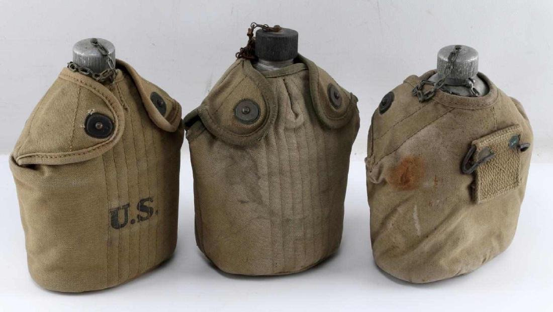 LOT OF 3 WWI ERA 1918 US MILITARY ISSUE CANTEENS