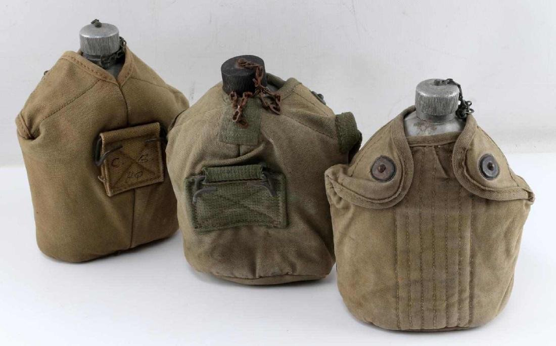 LOT OF 3 WWI ERA 1918 US MILITARY ISSUE CANTEENS - 2