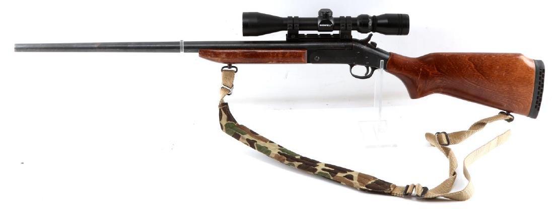 NEW ENGLAND ARMS SINGLE SHOT RIFLE W SCOPE .25 06 - 5