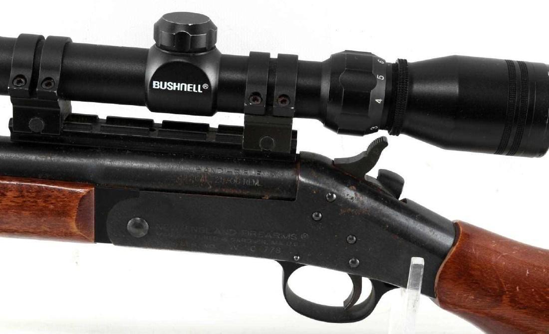 NEW ENGLAND ARMS SINGLE SHOT RIFLE W SCOPE .25 06 - 6