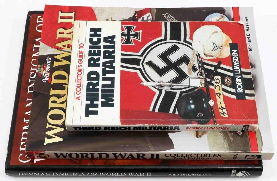 LOT OF 3 WWII MILITARY BOOKS GERMAN INSIGNIA GUIDE