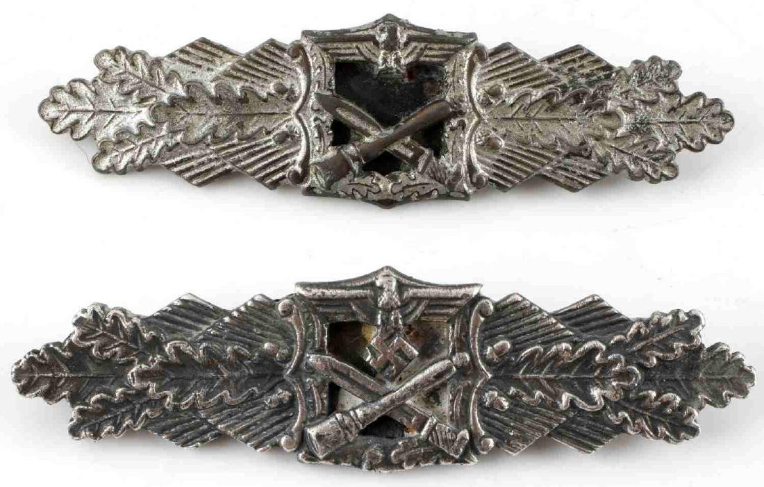 WWII GERMAN THIRD REICH CLOSE SILVER COMBAT CLASP
