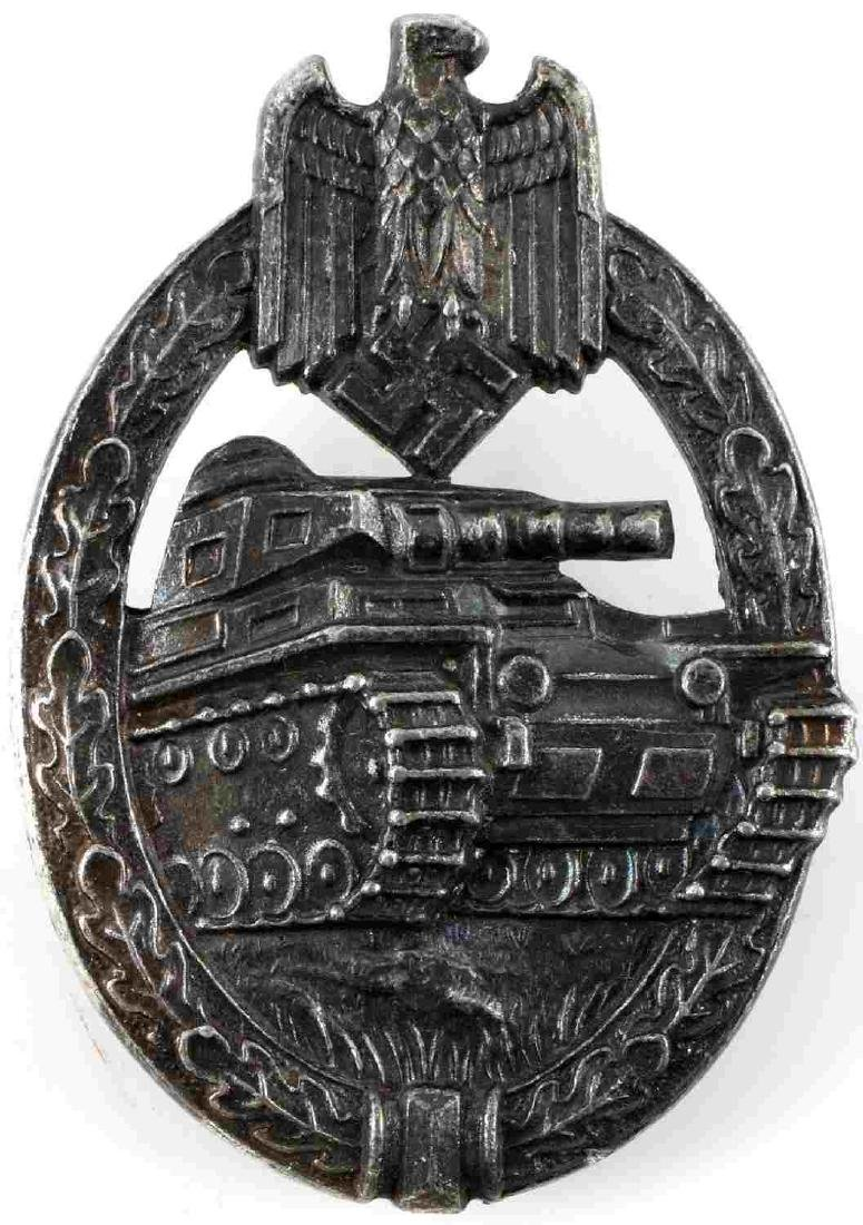 WWII GERMAN THIRD REICH PANZER TANK ASSAULT BADGE