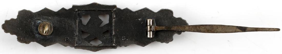 WWII GERMAN THIRD REICH BRONZE CLOSE COMBAT BADGE - 3