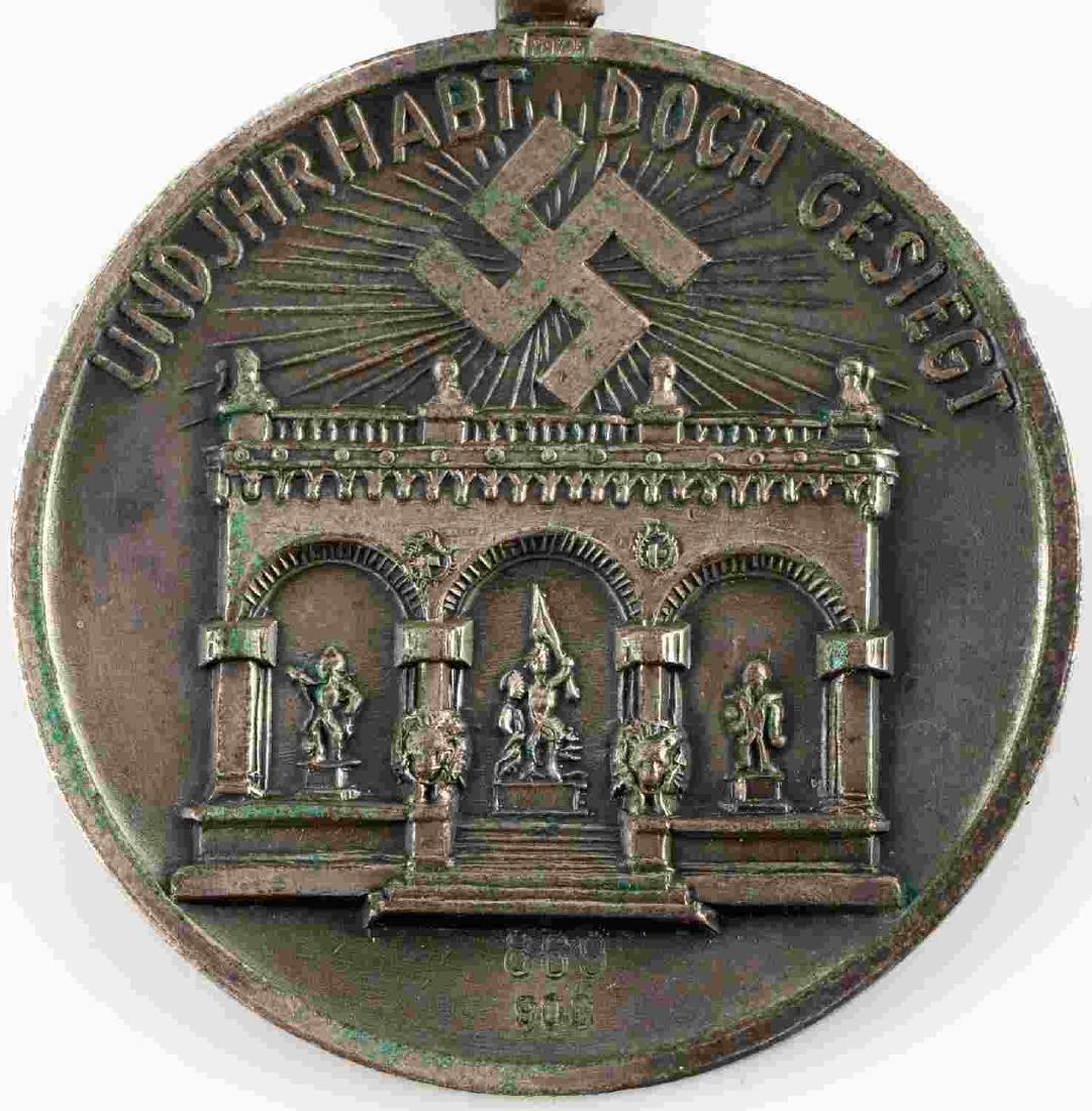 WWII GERMAN THIRD REICH NSDAP BLOOD ORDER MEDAL - 2