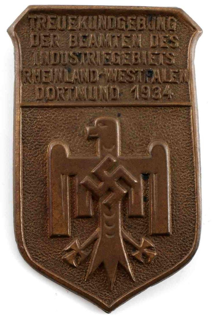 WWII GERMAN THIRD REICH TINNIE & HJ BADGE LOT - 2