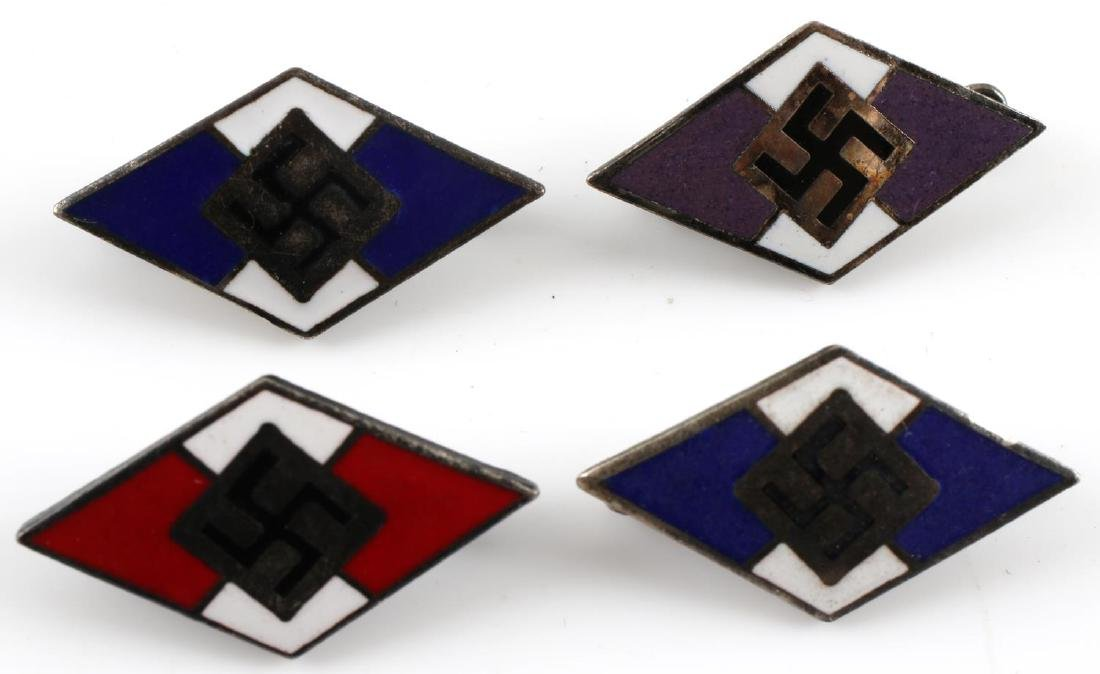 WWII GERMAN THIRD REICH TINNIE & HJ BADGE LOT - 8