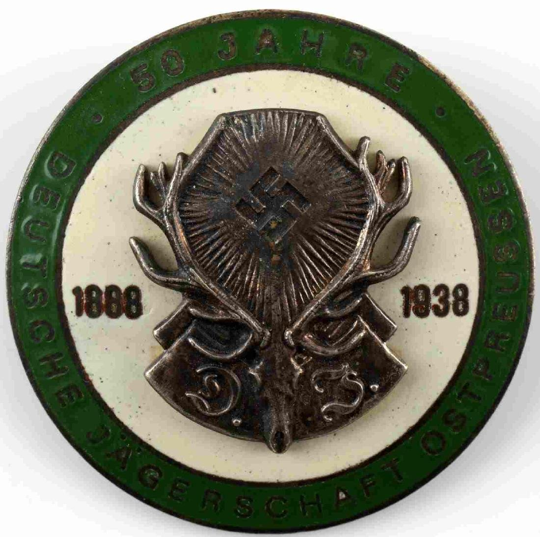 WWII GERMAN THIRD REICH HUNTING ASSOCIATION BADGE