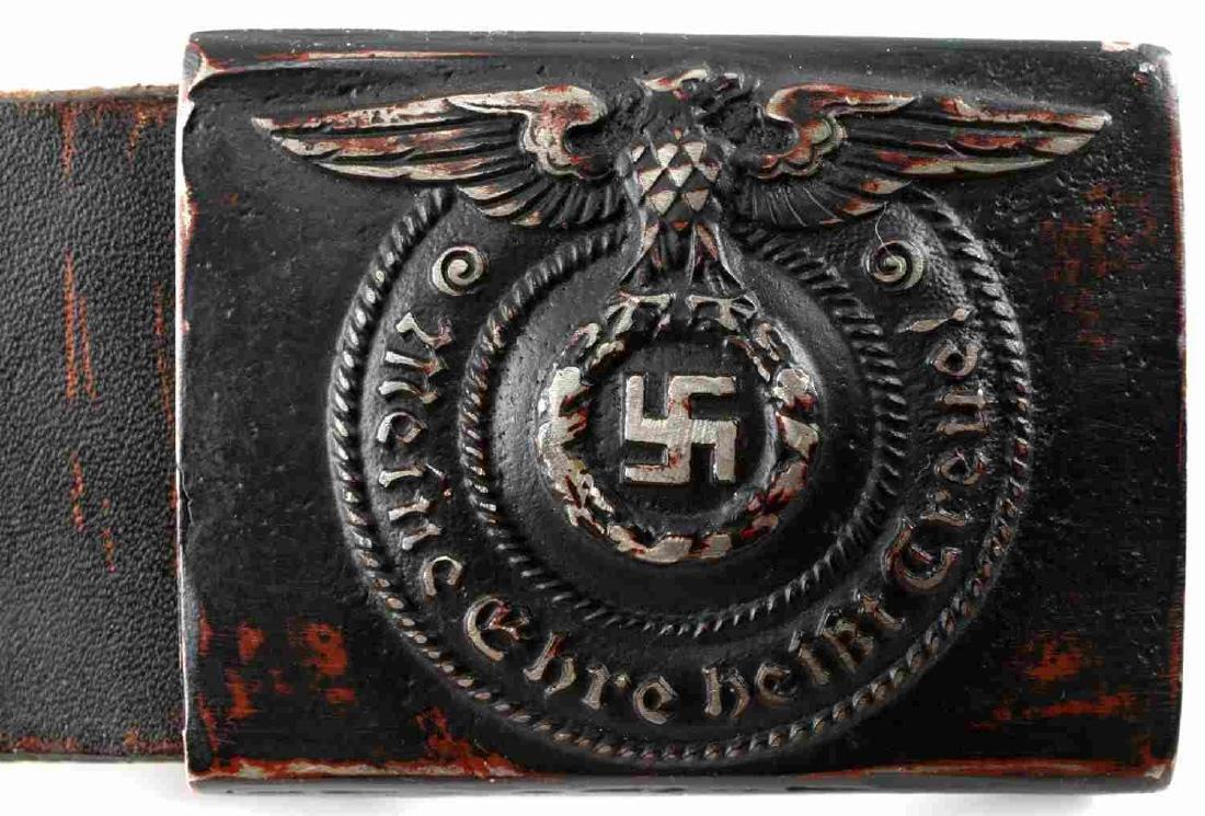 WWII GERMAN THIRD REICH WAFFEN SS BELT & BUCKLE - 2
