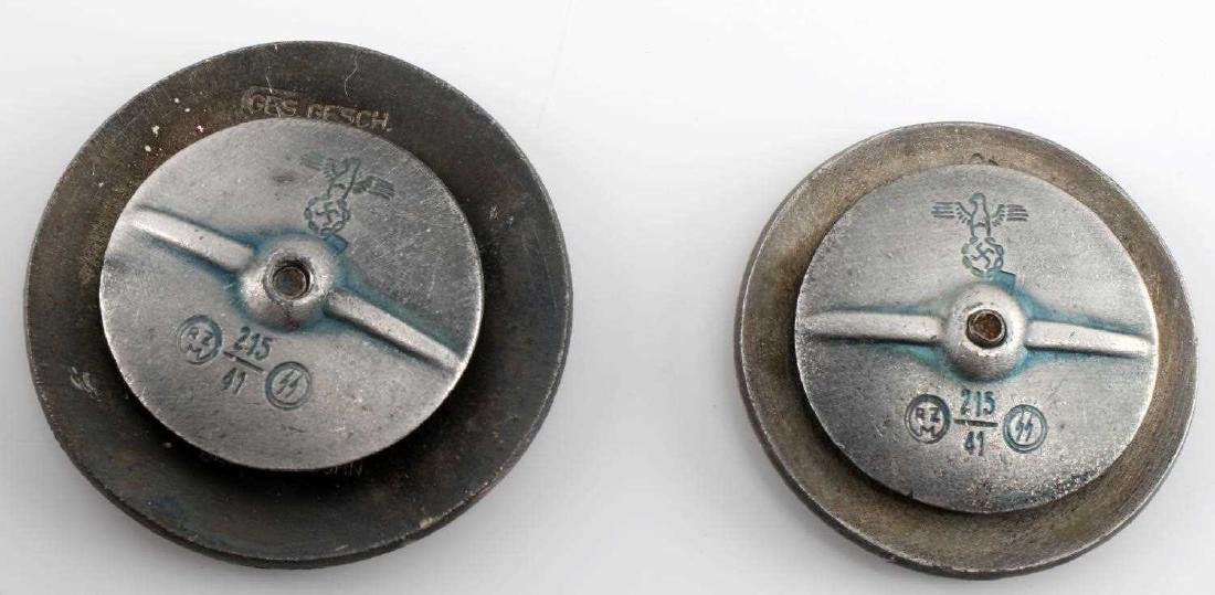 WWII GERMAN THIRD REICH SS NSDAP BADGE LOT OF TWO - 2