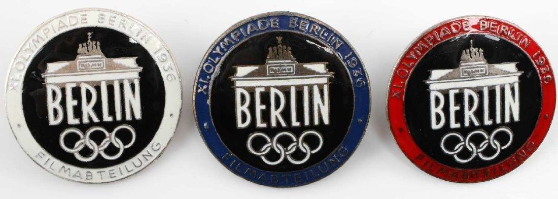 WWII GERMAN THIRD REICH BERLIN OLYMPICS BADGE LOT