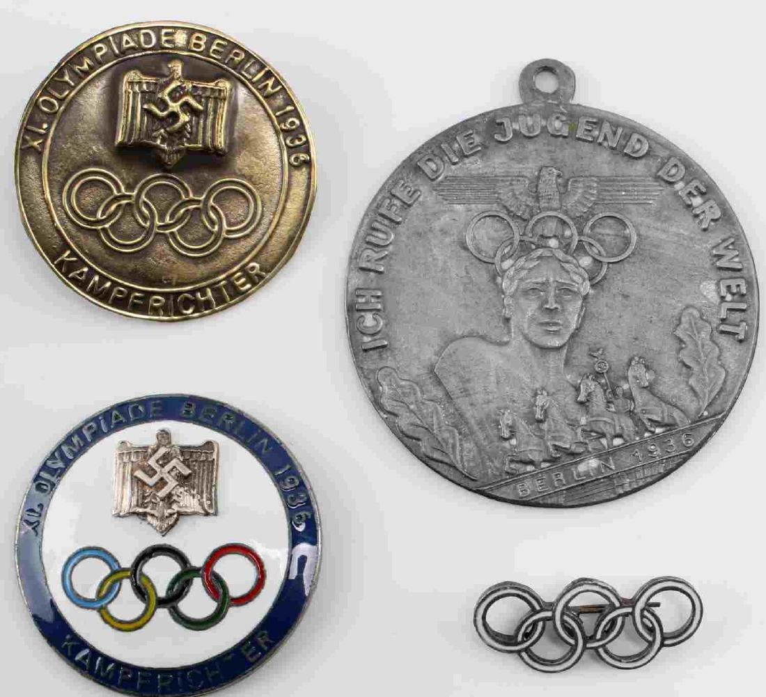 WWII GERMAN THIRD REICH BERLIN OLYMPIC BADGE LOT