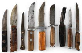 WWII US AMERICAN THEATER MADE KNIFE LOT OF 9