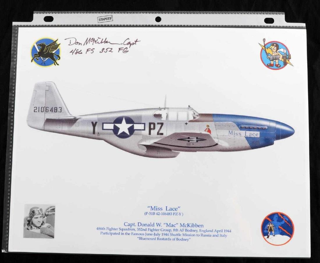WWII USAF AND RAF PILOT ACE SIGNATURE LOT OF 26 - 3