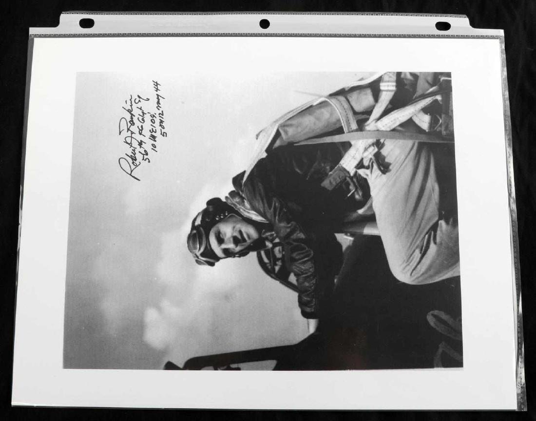 WWII USAF AND RAF PILOT ACE SIGNATURE LOT OF 26 - 4