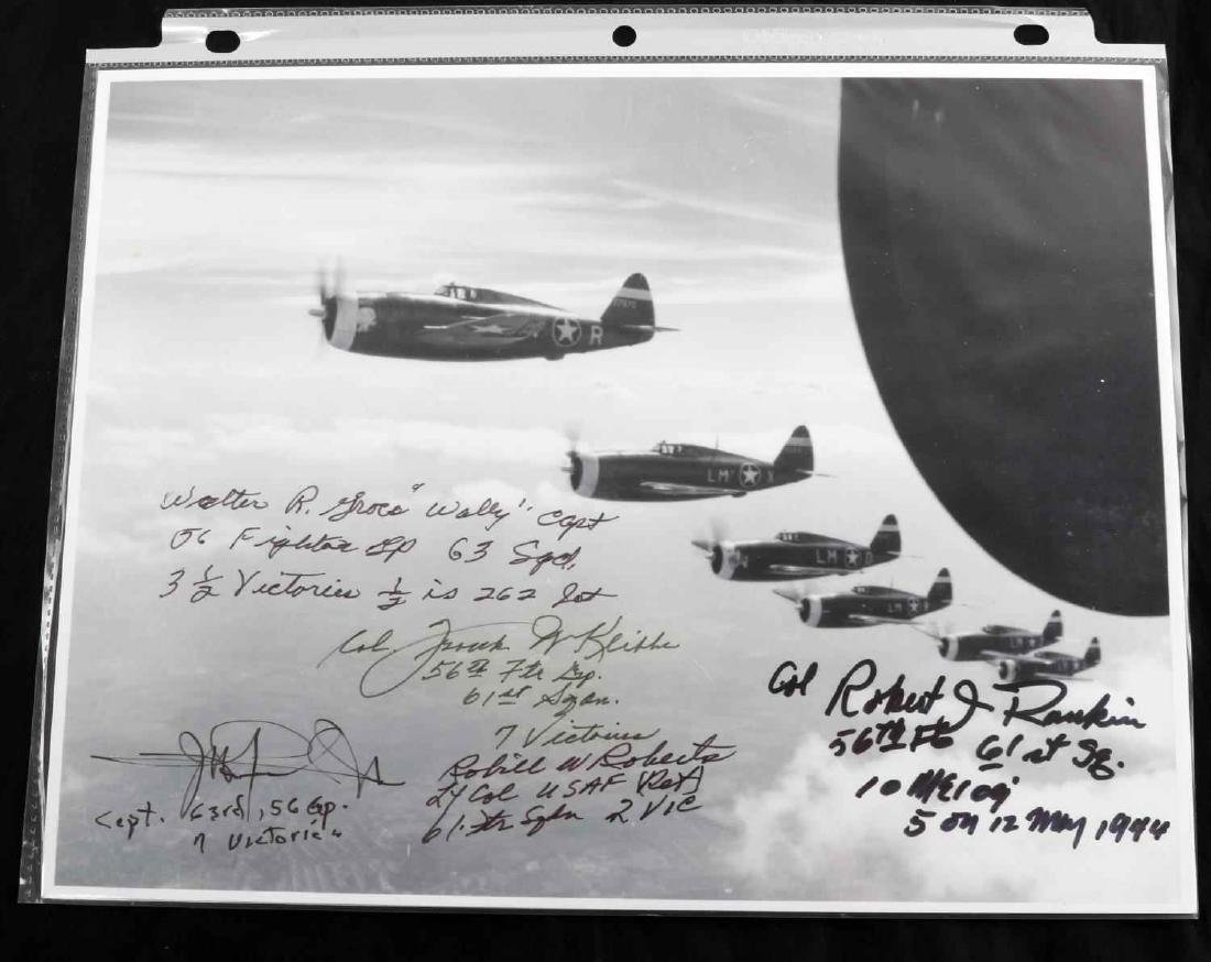 WWII USAF AND RAF PILOT ACE SIGNATURE LOT OF 26 - 5