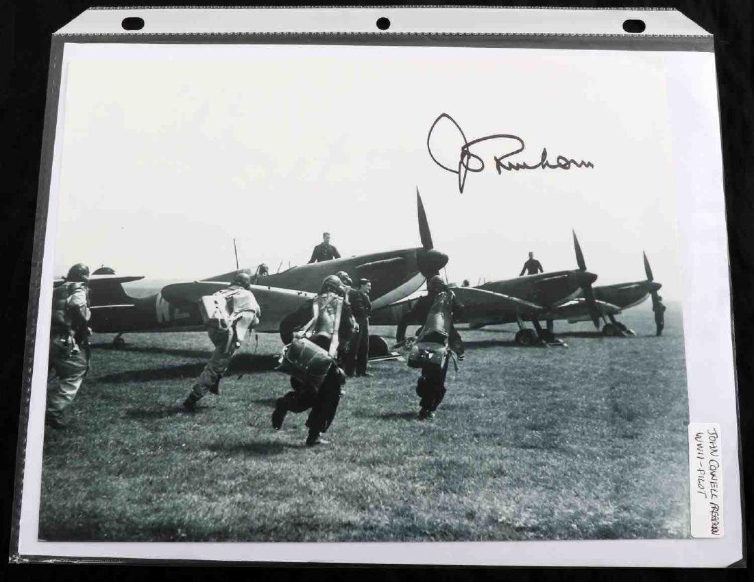 WWII USAF AND RAF PILOT ACE SIGNATURE LOT OF 26 - 8