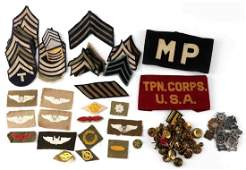 WWII US AIR FORCE ARMY PATCH & BADGE LARGE LOT