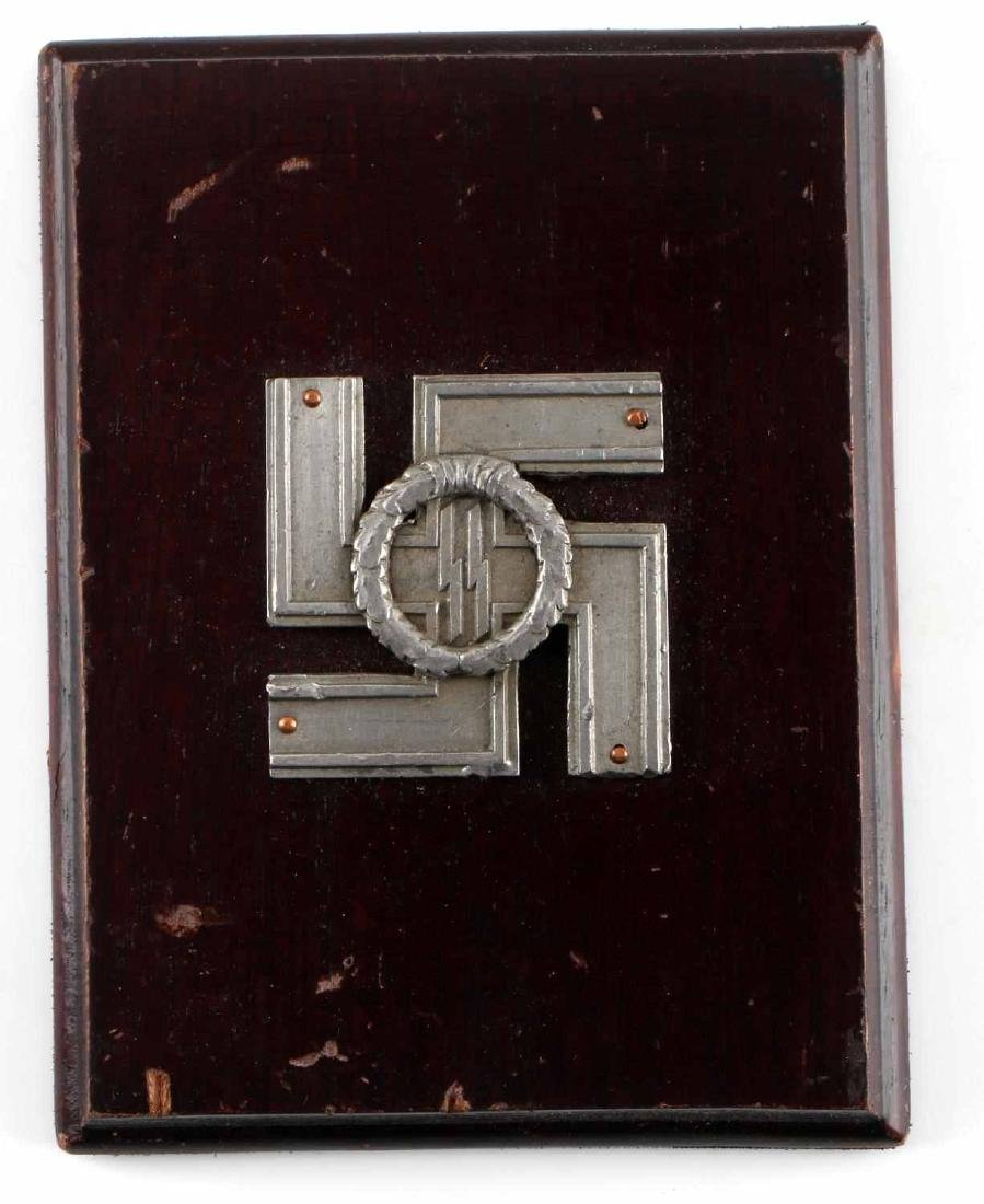 WWII GERMAN THIRD REICH SS LONG SERVICE PLAQUE