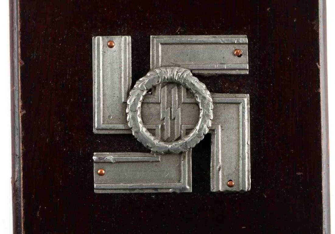 WWII GERMAN THIRD REICH SS LONG SERVICE PLAQUE - 2
