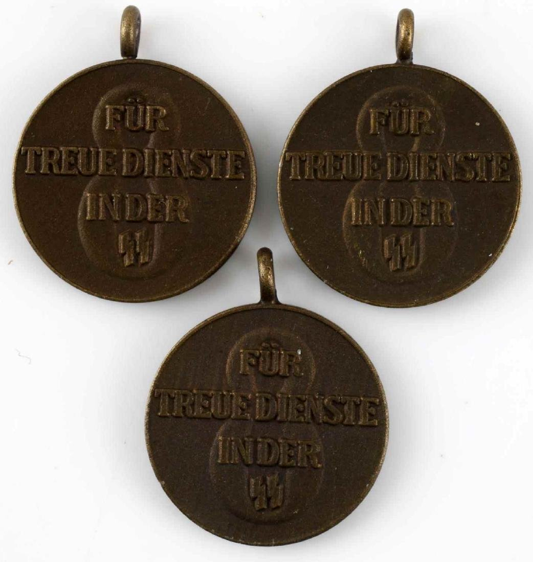 WWII GERMAN THIRD REICH SS LONG SERVICE MEDAL MINI - 2