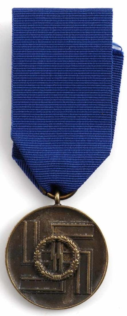 WWII GERMAN SS 8 YEAR SERVICE MEDAL AND DOCUMENT - 6