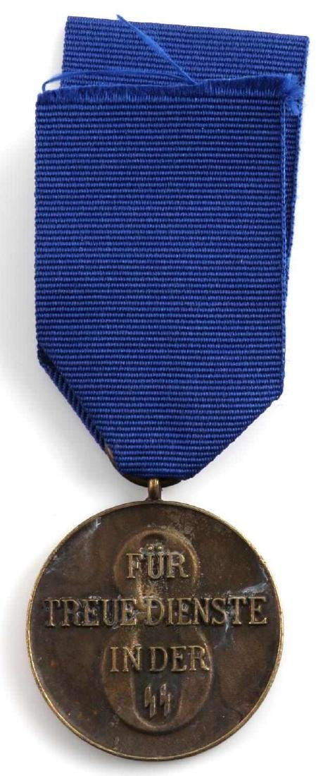 WWII GERMAN SS 8 YEAR SERVICE MEDAL AND DOCUMENT - 7