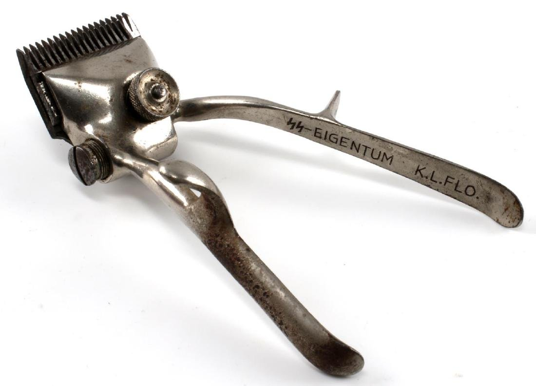 WWII GERMAN FLOSSENBURG SS MARKED HAIR CLIPPERS