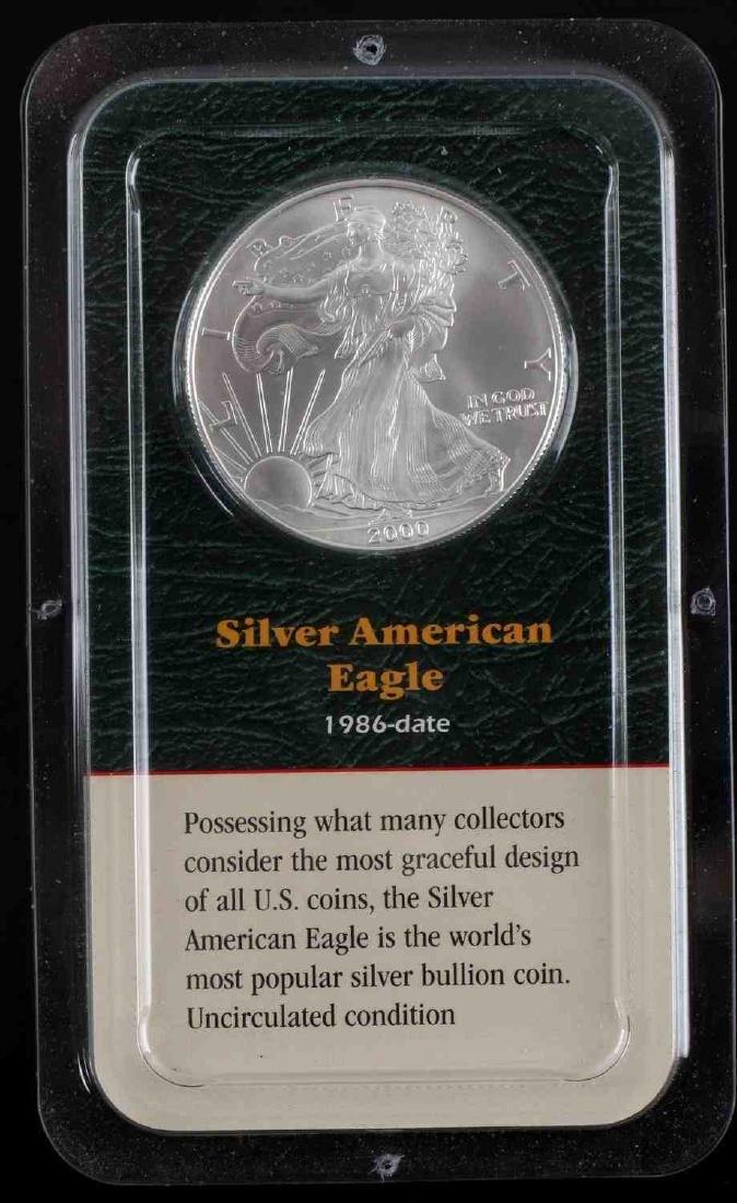 AMERICAN SILVER EAGLE .999 FINE SILVER BULLION LOT - 2