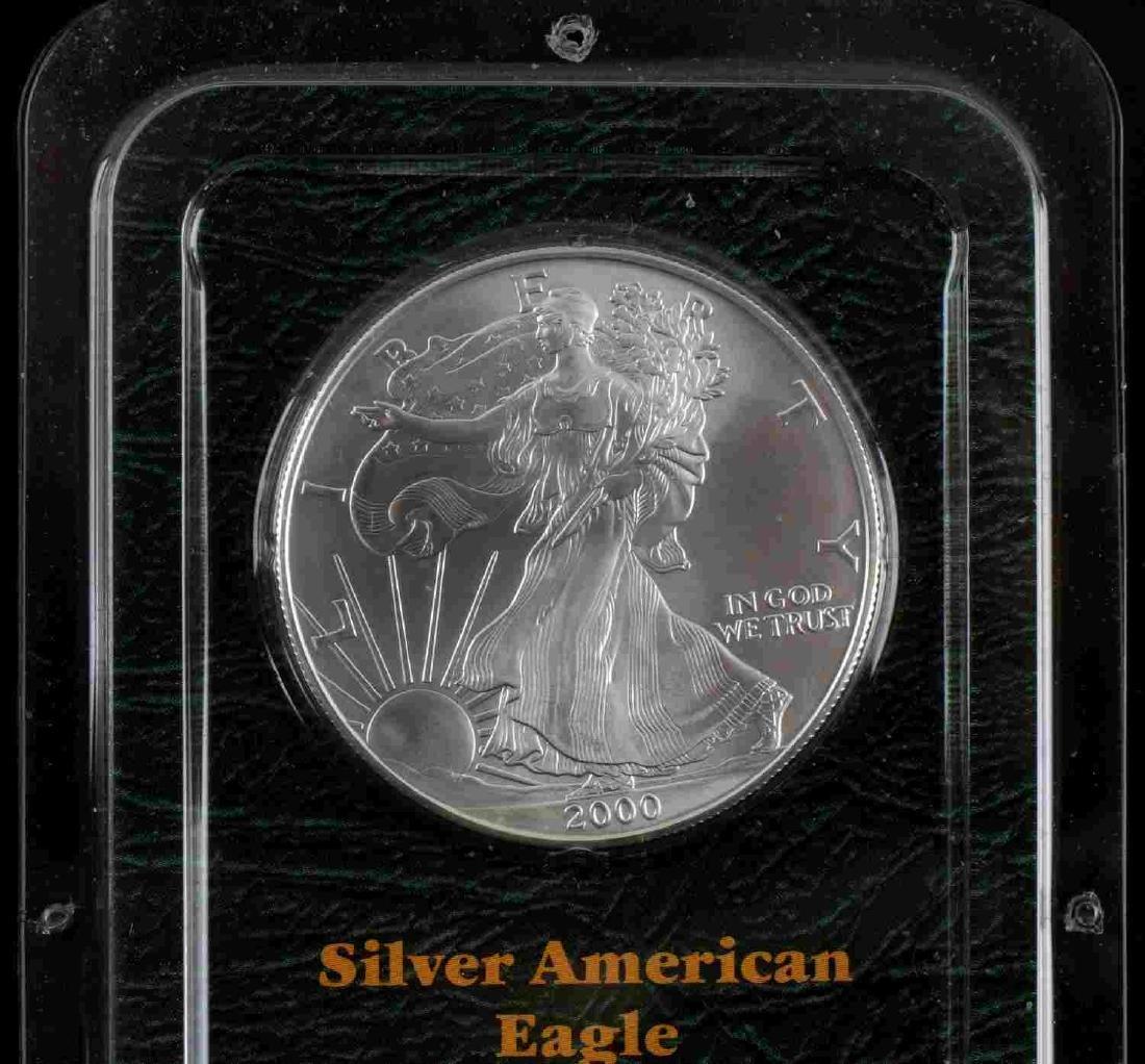 AMERICAN SILVER EAGLE .999 FINE SILVER BULLION LOT - 3