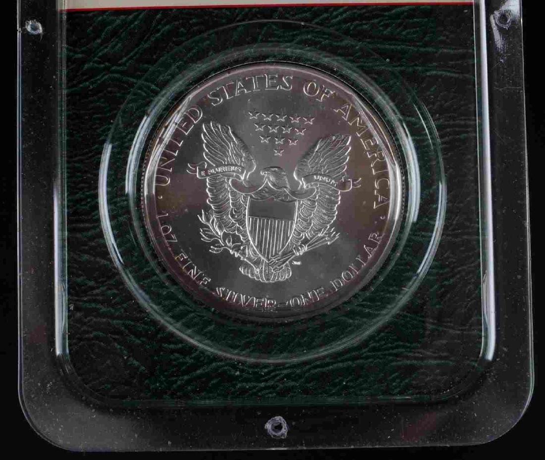 AMERICAN SILVER EAGLE .999 FINE SILVER BULLION LOT - 5