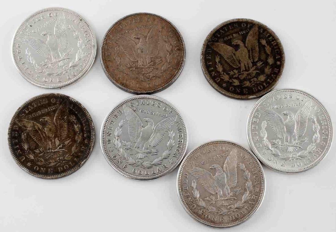 MORGAN SILVER DOLLAR MIXED DATE LOT OF SEVEN COINS - 2