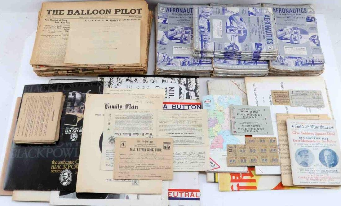 WWII & MORE MILITARY EPHEMERA NEWSPAPERS POSTER