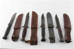 WWII US NAVY MK 1 KA BAR FIGHTING KNIFE LOT OF 4