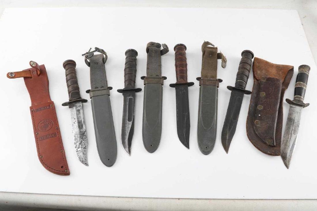 WWII US NAVY MK 2 KA BAR FIGHTING KNIFE LOT OF 5