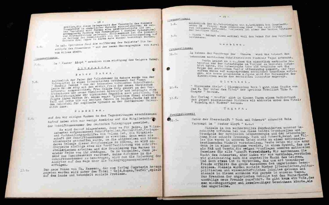 WWII GERMAN THIRD REICH UNCOMMON DOCUMENT LOT - 10