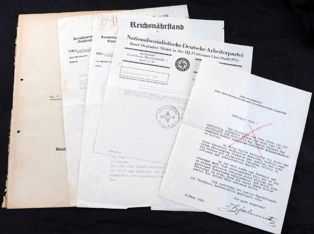 WWII GERMAN THIRD REICH UNCOMMON DOCUMENT LOT