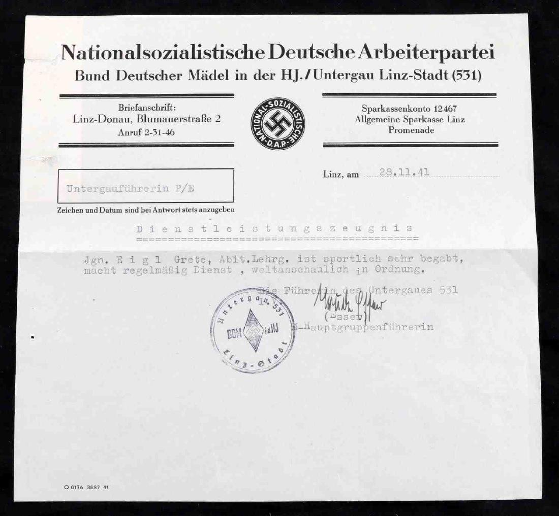WWII GERMAN THIRD REICH UNCOMMON DOCUMENT LOT - 4