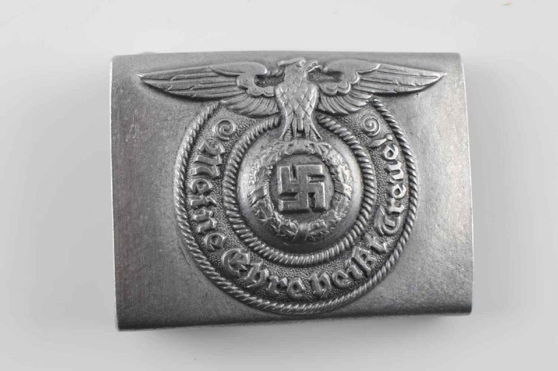 WWII GERMAN WAFFEN SS EM BELT BUCKLE