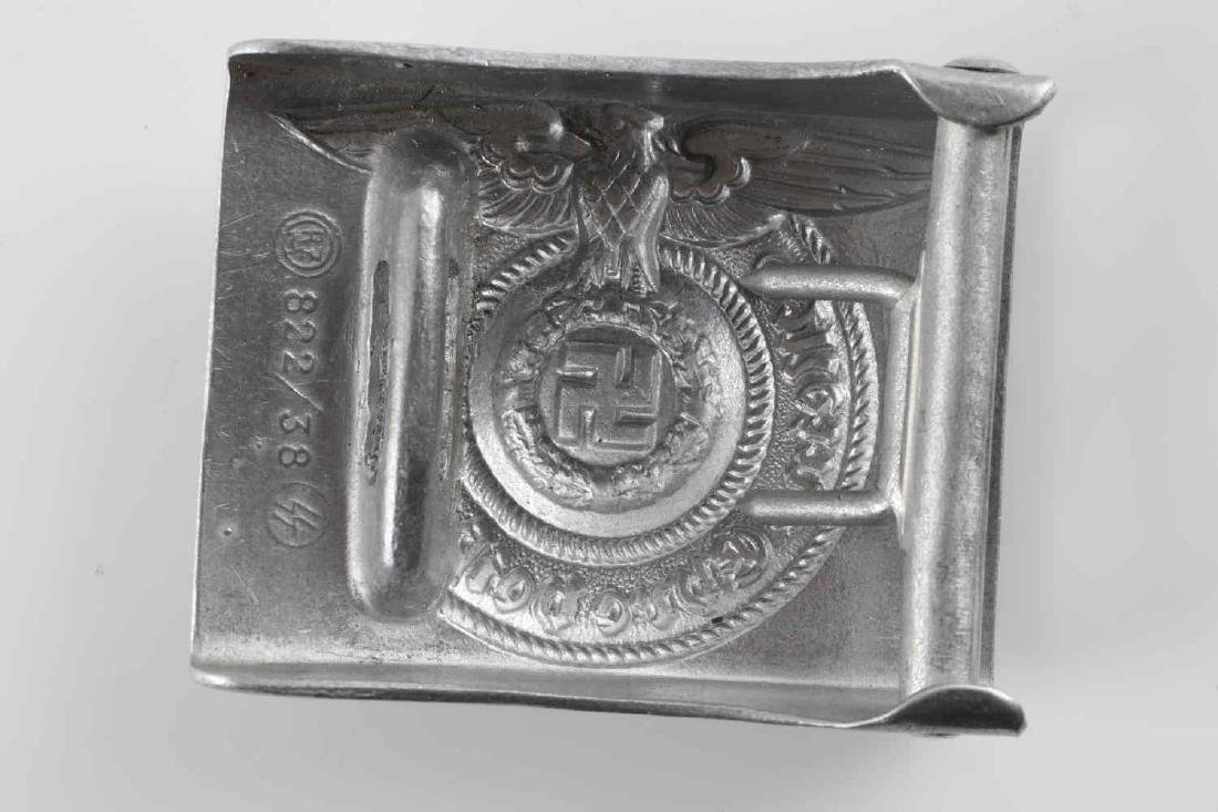 WWII GERMAN WAFFEN SS EM BELT BUCKLE - 2