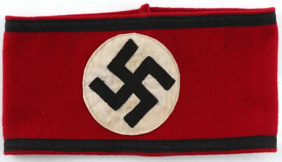 WWII GERMAN THIRD REICH SS ARMBAND WOOL