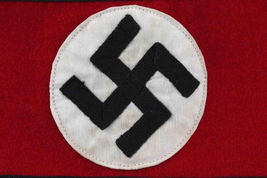 WWII GERMAN THIRD REICH SS ARMBAND WOOL - 2