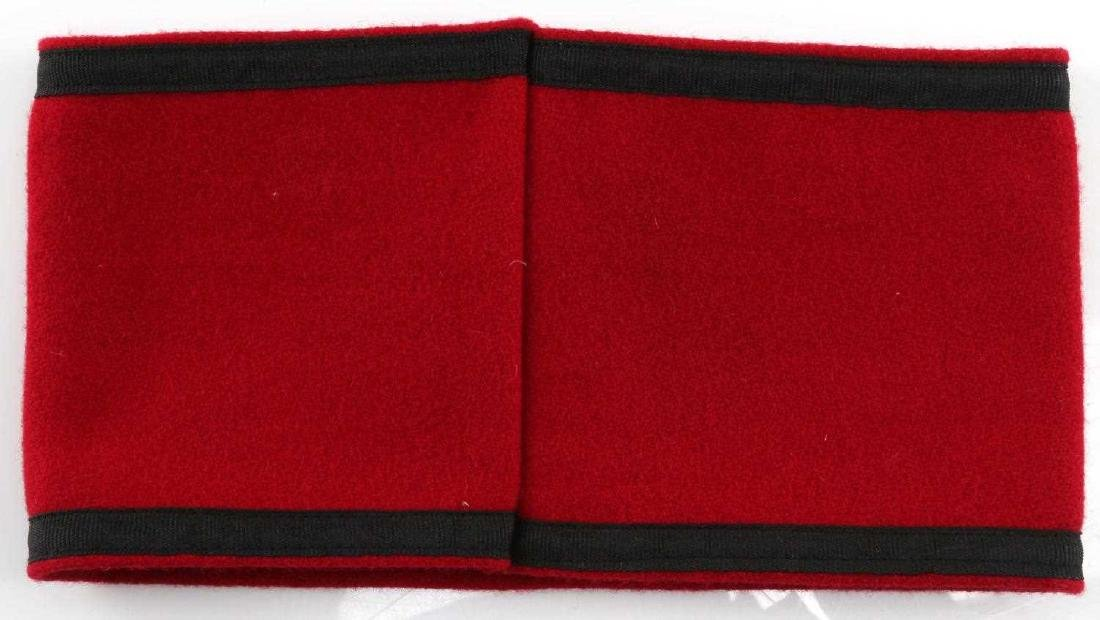 WWII GERMAN THIRD REICH SS ARMBAND WOOL - 3