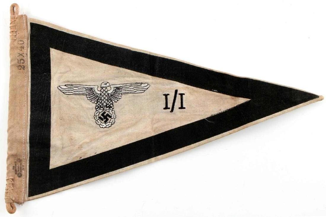 WWII GERMAN THIRD REICH SS FIELD COMMAND PENNANT